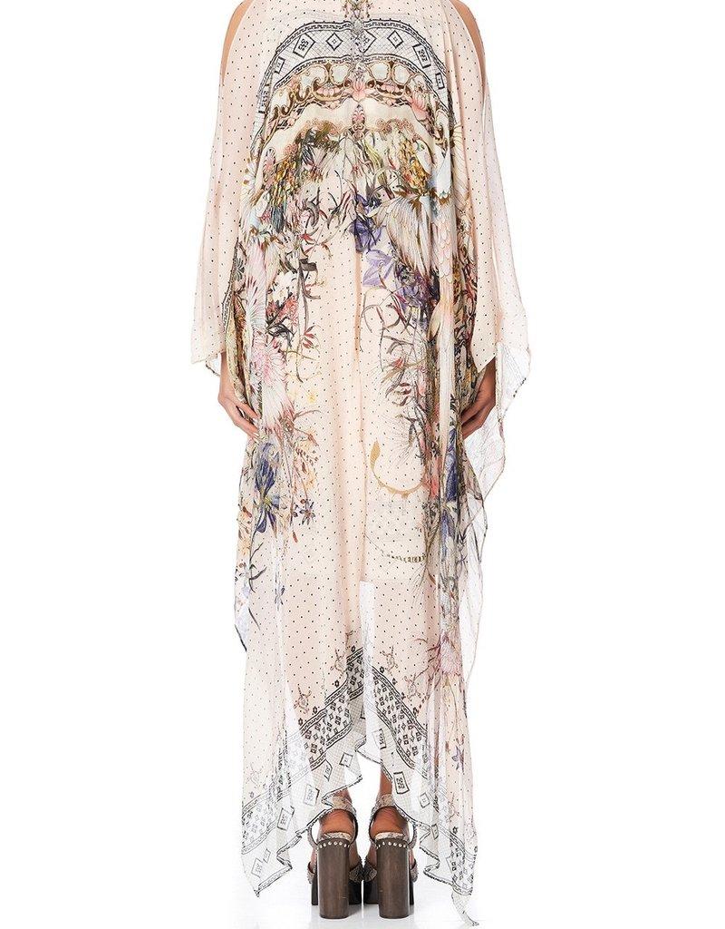 CAMILLA KINDRED SKIES LONG SHEER OVERLAY DRESS
