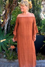 ESTILO EMPORIO MEXICANA DRESS VOILLE TERRACOTTA