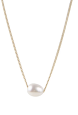 FAIRLEY PEARL TEARDROP NECKLACE GOLD