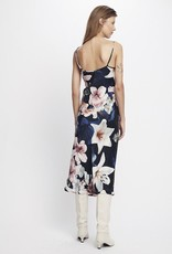SILK LAUNDRY 90S SILK SLIP DRESS LILIES