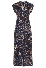SILK LAUNDRY V NECK DRESS SNAKE