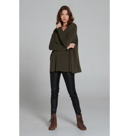 SALE - ESTILO EMPORIO ZOE CASHMERE V-NECK JUMPER HUNTER GREEN