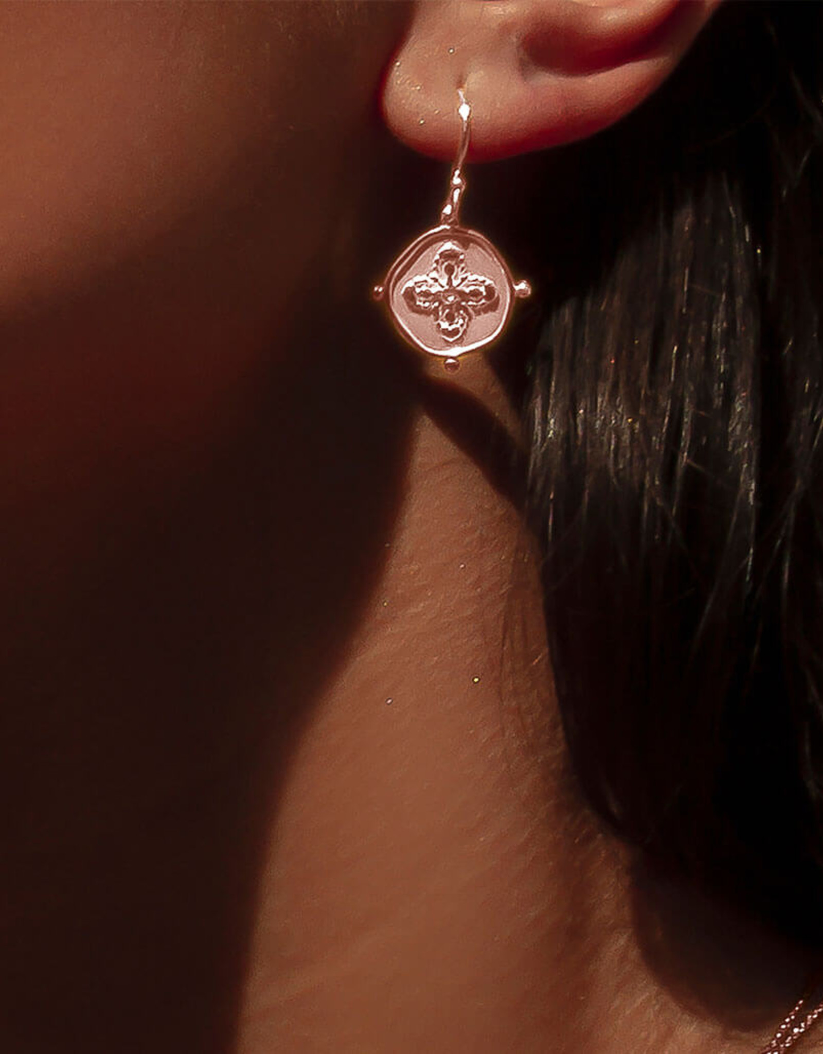 MURKANI SAHARA SMALL EARRINGS ROSE GOLD
