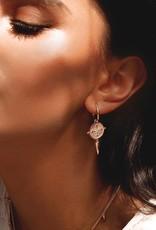 MURKANI SAHARA SMALL HOOP EARRINGS ROSE GOLD