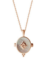 MURKANI OVAL NECKLACE WITH MOTHER OF PEARL ROSE GOLD