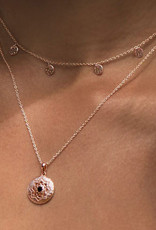 MURKANI ANDALUSIA NECKLACE WITH BLACK SPINEL STONE ROSE GOLD