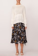 SALE - POL AERIAL CROPPED KNIT WHITE