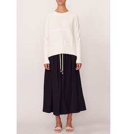 POL AERIAL RIBBED KNIT WHITE