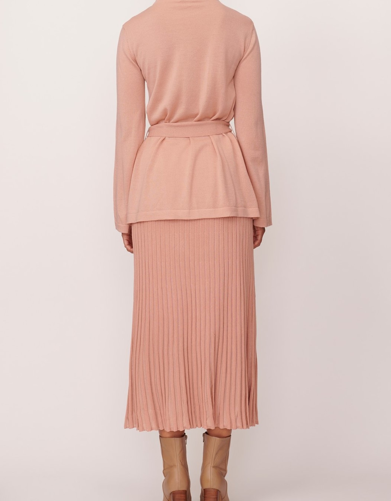 SALE - POL SCOPE RIBBED SKIRT PINK