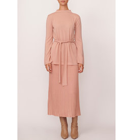 POL SCOPE RIBBED SKIRT PINK
