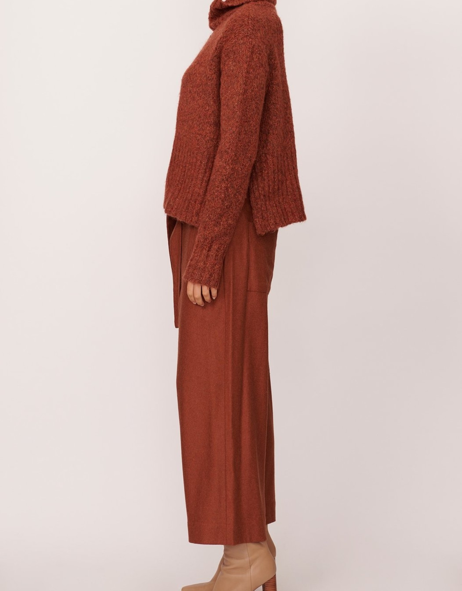 SALE - POL ASPEN TURTLENECK KNIT RUST