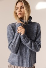 POL ASPEN TURTLENECK KNIT BLUE