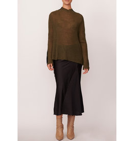 SALE - POL MANOR STRIPE SLEEVE KNIT KHAKI BLACK