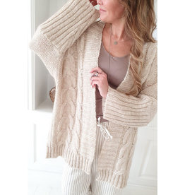 BYPIAS VICTORY MOHAIR CARDIGAN NATURAL