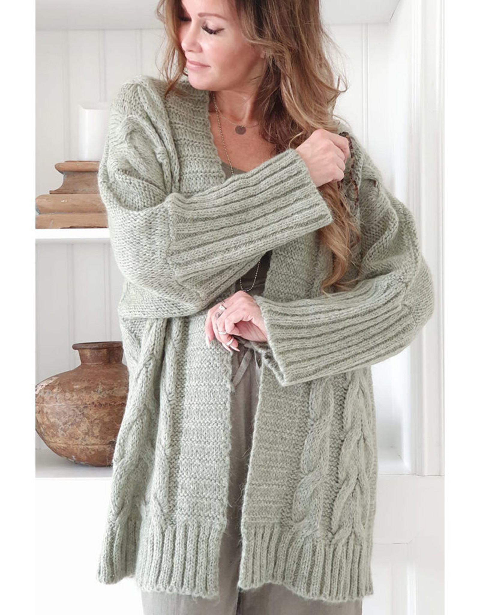 BYPIAS VICTORY MOHAIR CARDIGAN DANISH GREEN