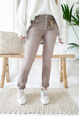 BYPIAS SUPER COMFY JEANS TAUPE