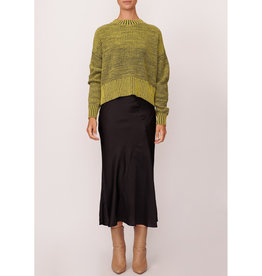 SALE - POL HEATH CONTRAST KNIT SAFFRON