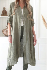 BYPIAS FOOL FOR LOVE LINEN TUNIC OLIVE