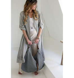 BYPIAS FOOL FOR LOVE LINEN TUNIC GREY
