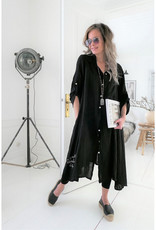 BYPIAS FOOL FOR LOVE LINEN TUNIC BLACK