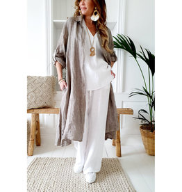 BYPIAS FOOL FOR LOVE LINEN TUNIC BEIGE