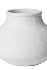 LARGE WHITE ORGANIC URN/POT