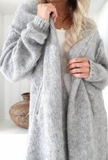 BYPIAS COZY MOMENTS CARDIGAN LIGHT GREY