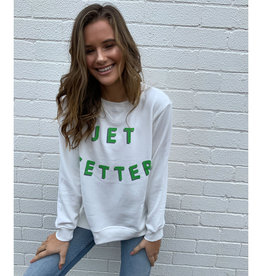 SOPHIE MORAN ZIP SWEATSHIRT WINTER WHITE JET SETTER