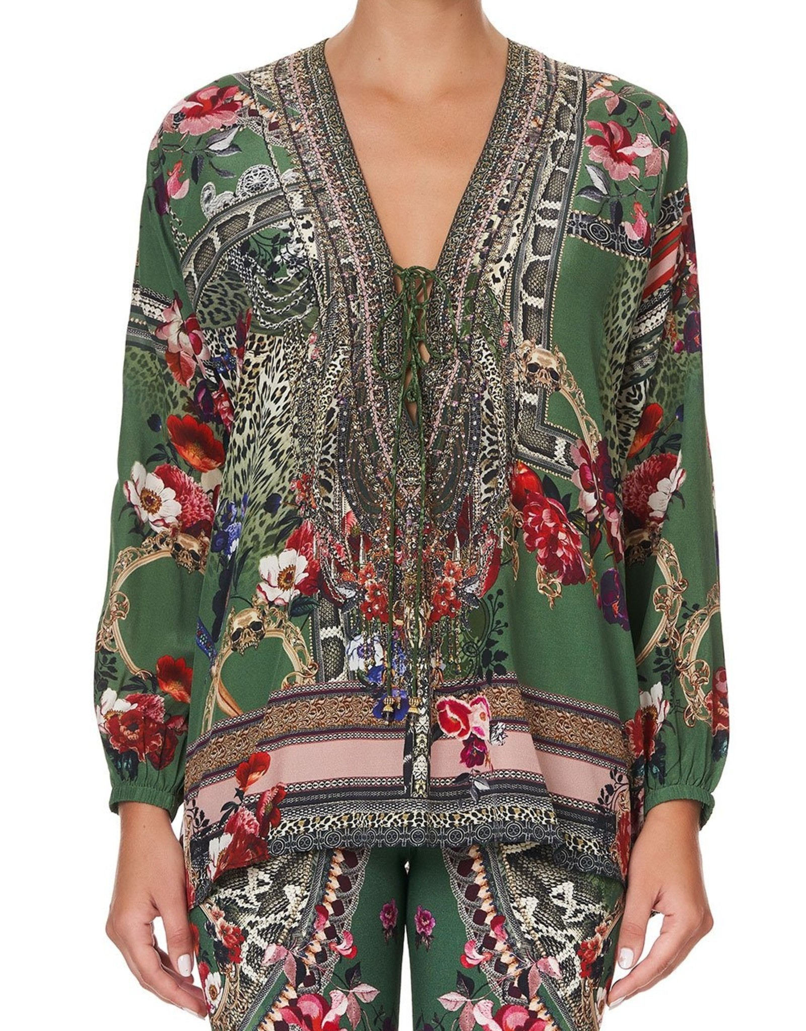 CAMILLA TALES OF TIME LACE UP BLOUSE