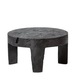 SATARA LOGAN ROUND SIDE TABLE CHARCOAL TEAK