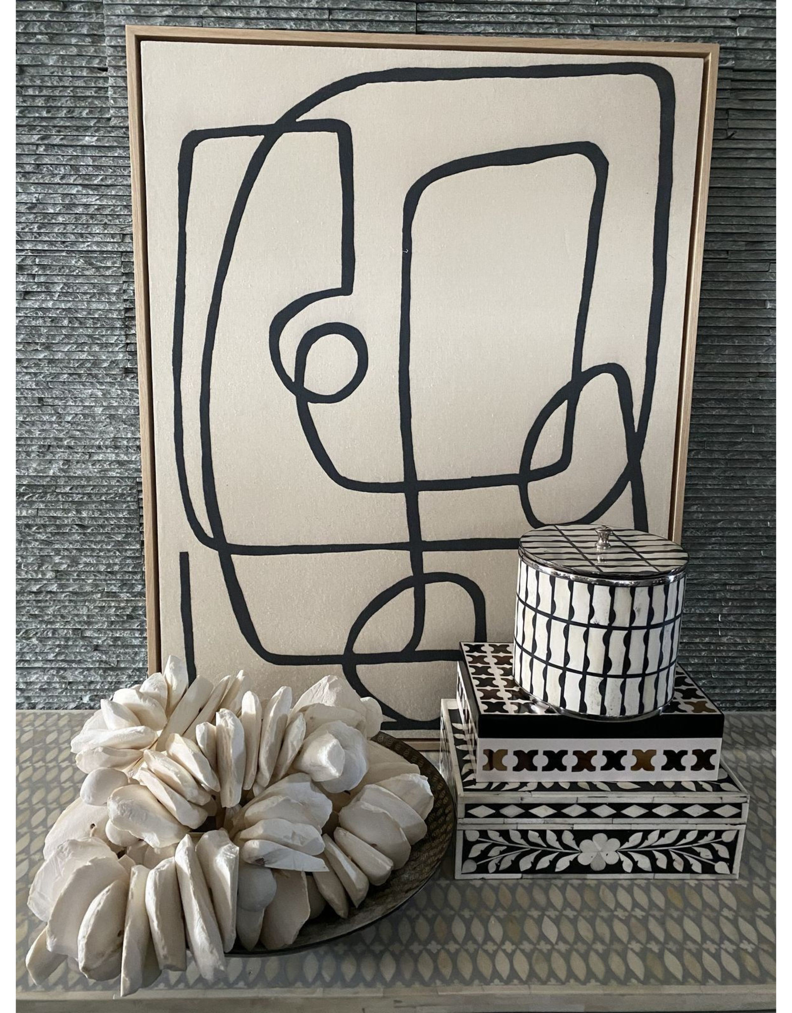 KINDRED LARGE ABSTRACT FRAMED WALL ART