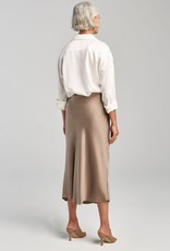 SILK LAUNDRY BIAS CUT SKIRT CLAY