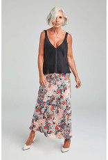 SILK LAUNDRY LONG BIAS CUT SKIRT GARDEN PARTY