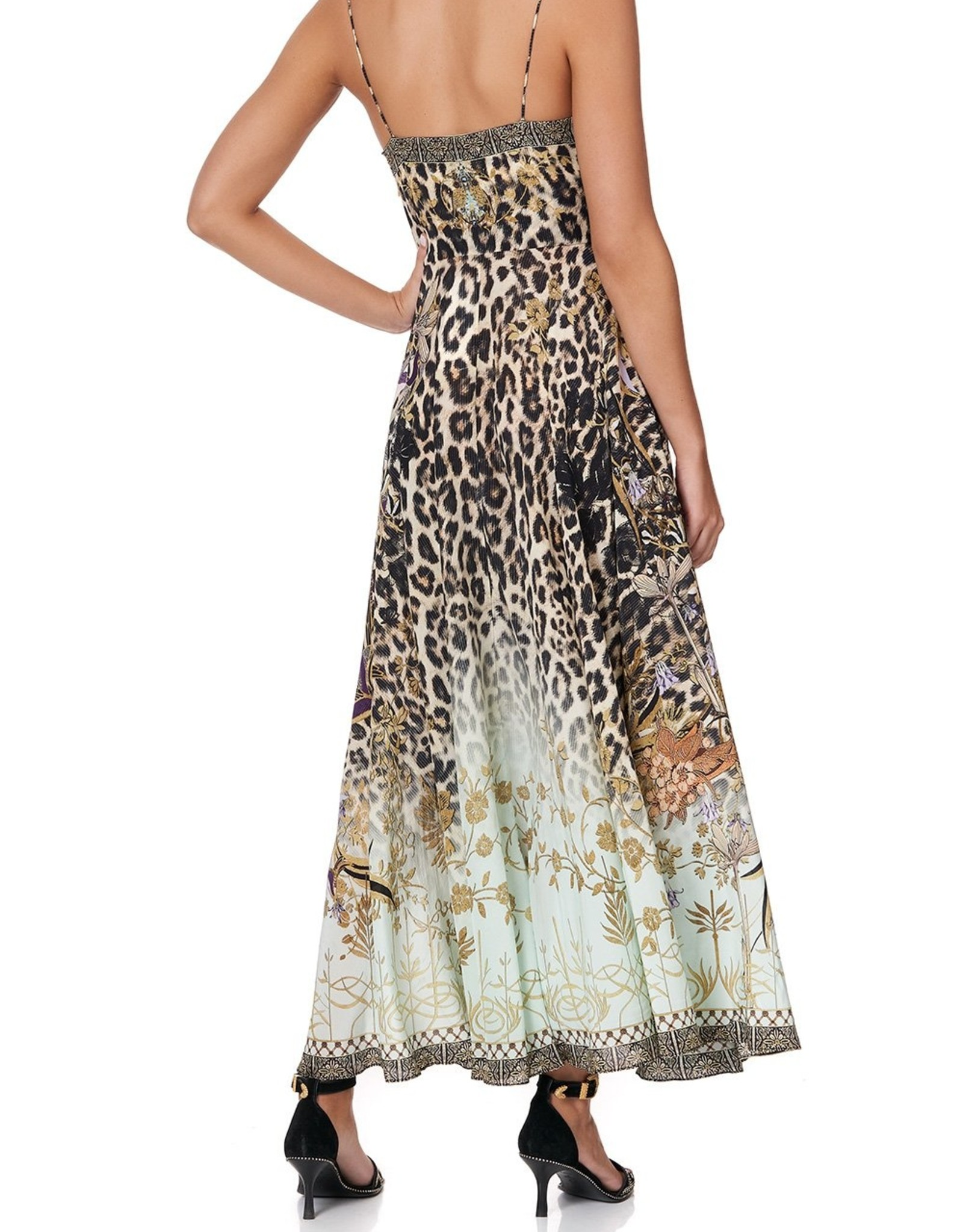 CAMILLA NOMADIC NYMPH LONG DRESS W/TIE FRONT