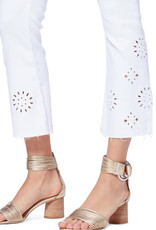 SALE - PAIGE COLETTE CROP JEANS EMBROIDERED CRISP WHITE