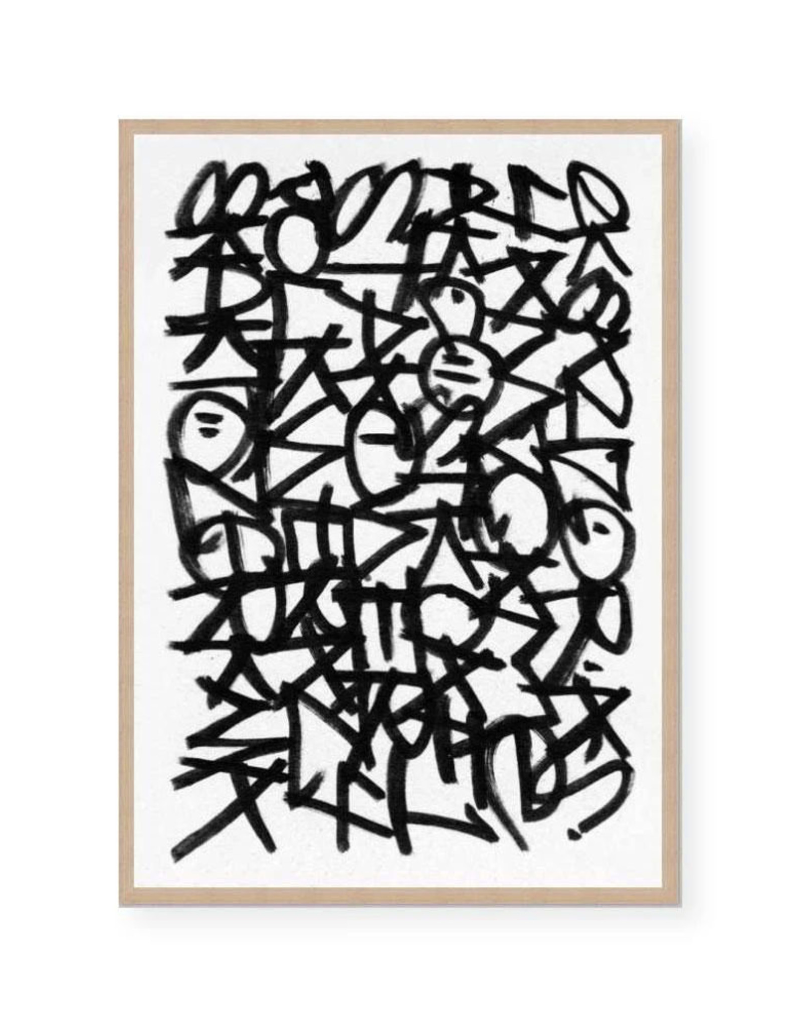 SCRIBBLE NOTES WITH OAK FRAME
