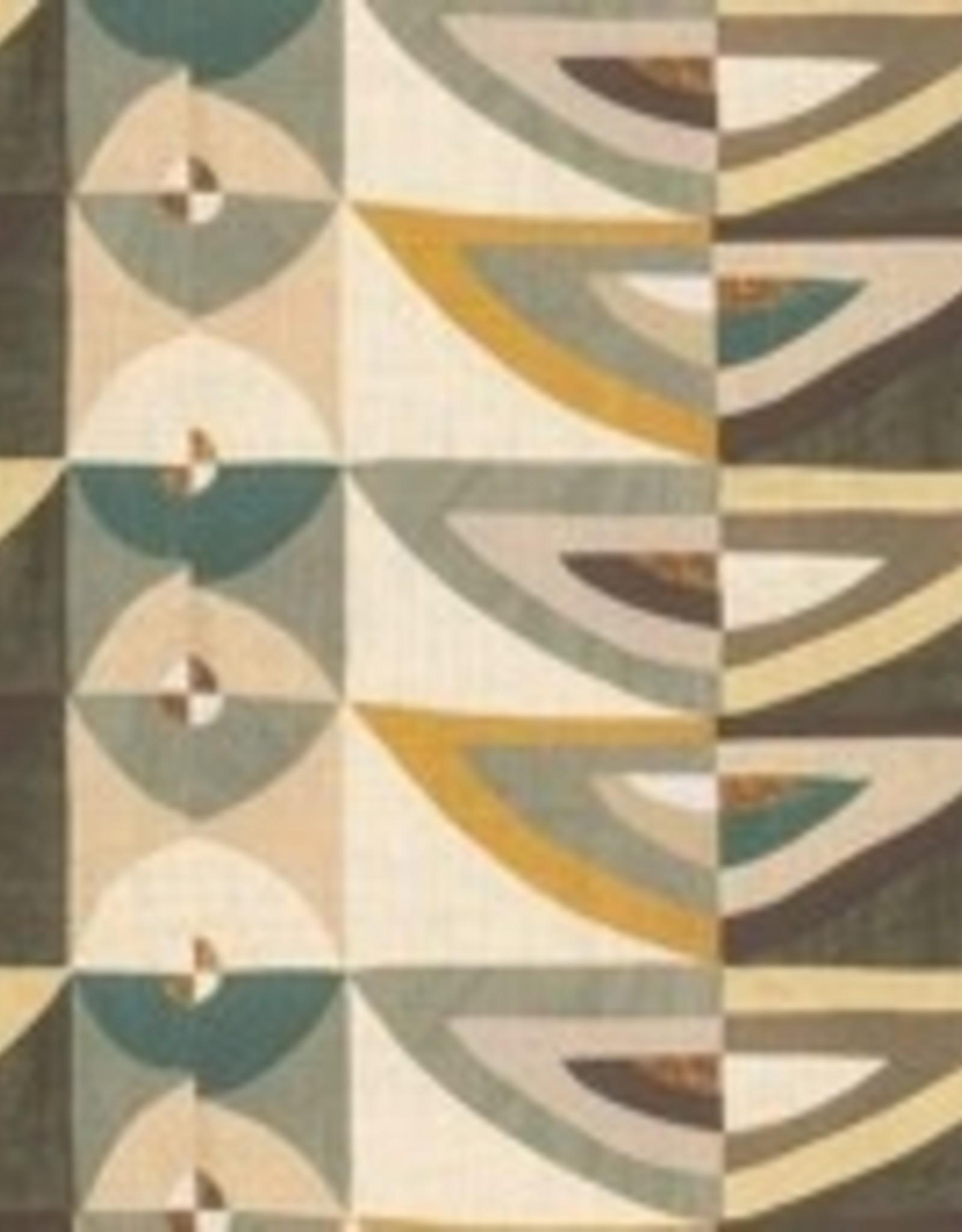 KARAKUM GREEN/MUSTARD GEOMETRIC CUSHION
