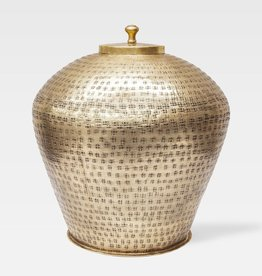 BARCELONA URN LARGE BRASS WITH ANTIQUE FINISH