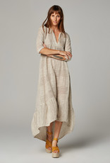 ESTILO EMPORIO MAXI TIER DRESS RISACA NATURAL