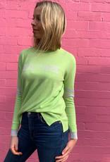 SOPHIE MORAN NEW YORK KNIT LIME GREEN & GREY