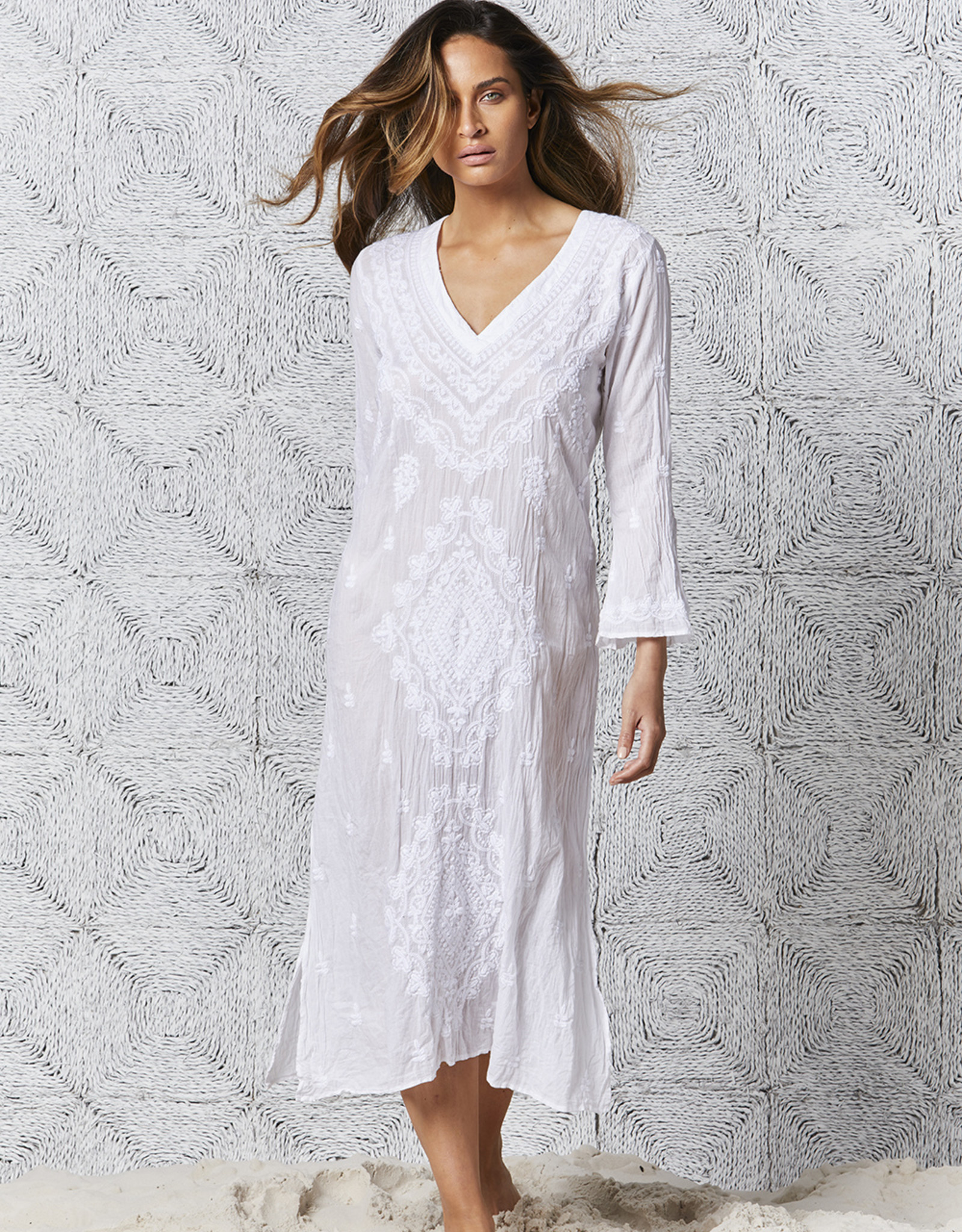 ONESEASON LONG GOA EMBROIDERY WHITE