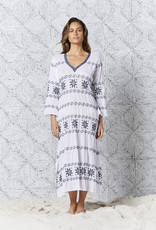 ONESEASON LONG ARABELLA EMBROIDERY WHITE