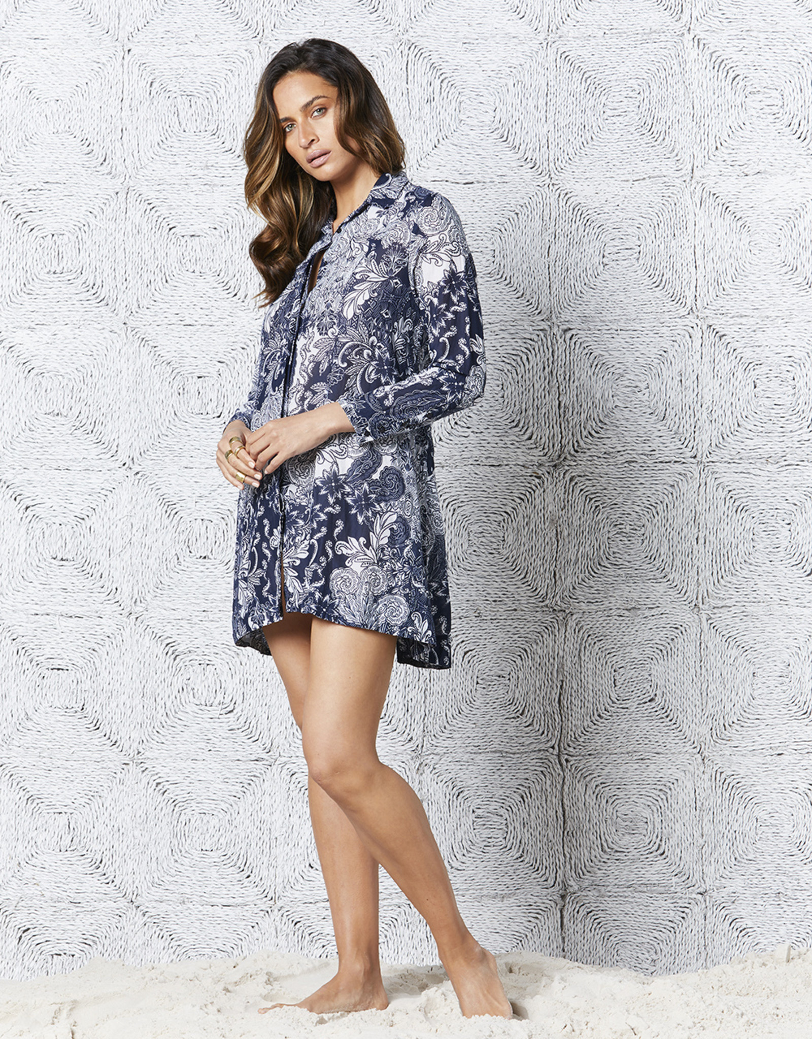 ONESEASON PEGGY DRESS FARO NAVY