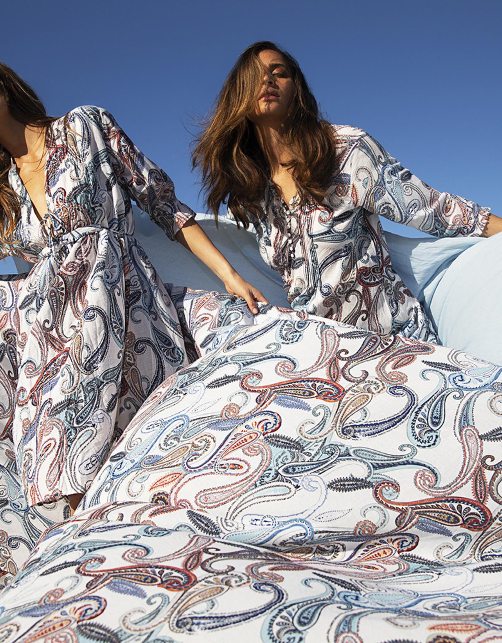 ONESEASON LONG POPPY DRESS MENORCA WHITE