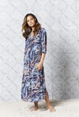 ONESEASON LONG POPPY DRESS MENORCA NAVY