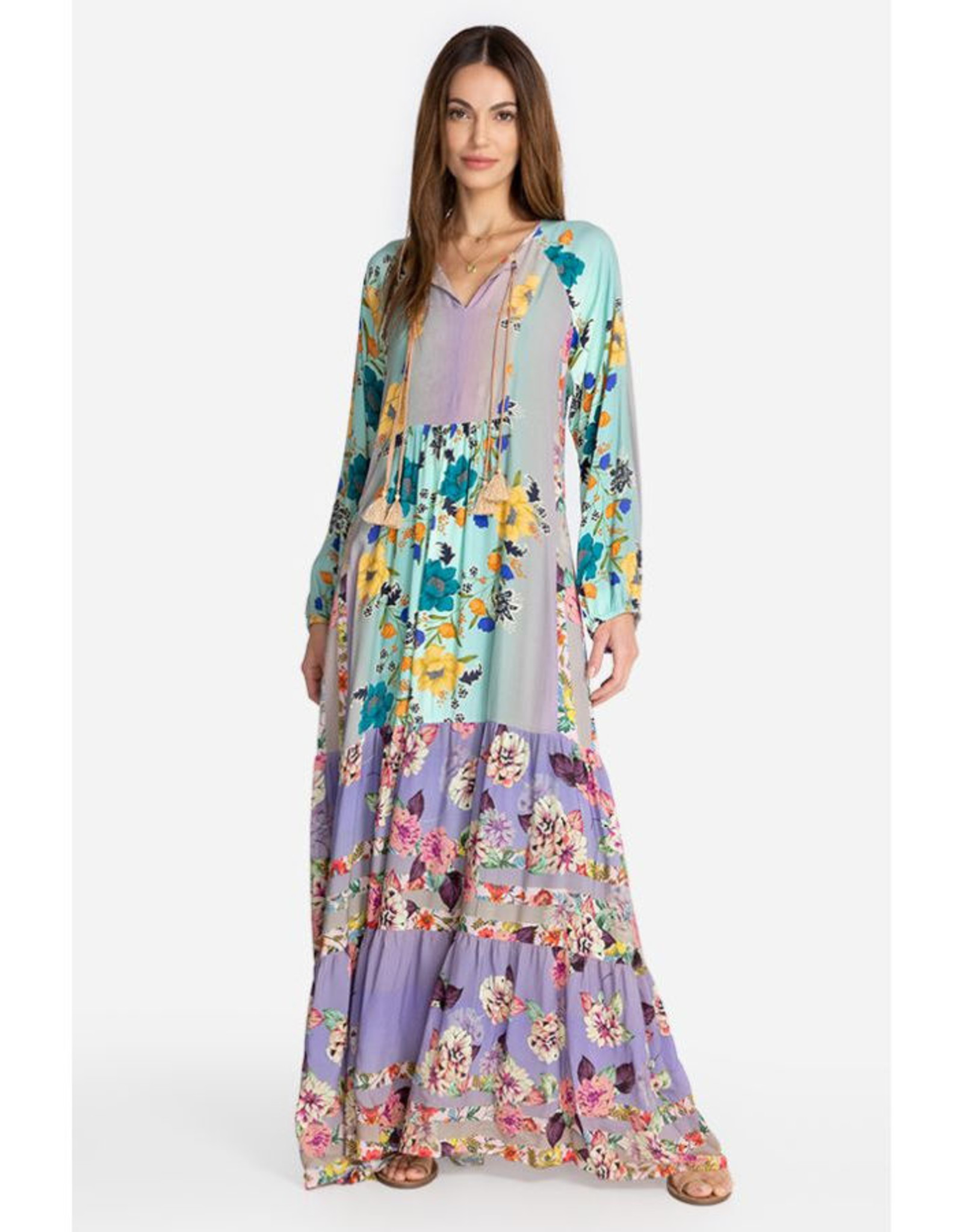 JOHNNY WAS PANELOPE DRESS WITH SLIP MULTI