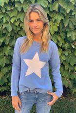 SOPHIE MORAN ZIP STAR SWEATSHIRT ROYAL  BLUE & WHITE