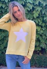 SOPHIE MORAN ZIP STAR SWEATSHIRT YELLOW & WHITE