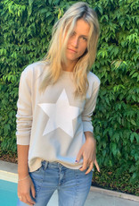 SOPHIE MORAN ZIP STAR SWEATSHIRT SILVER & WHITE