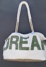 ALI LAMU LARGE WEEKEND BAG CREAM KHAKI DREAM